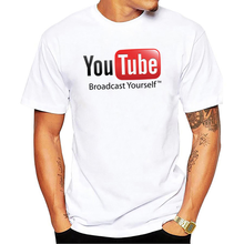6289ab1d3b981 New Design Youtube T Shirt Broadcast Yourself Printed Cotton Fashion Top  Tee Summer Short Sleeve Men s Clothing