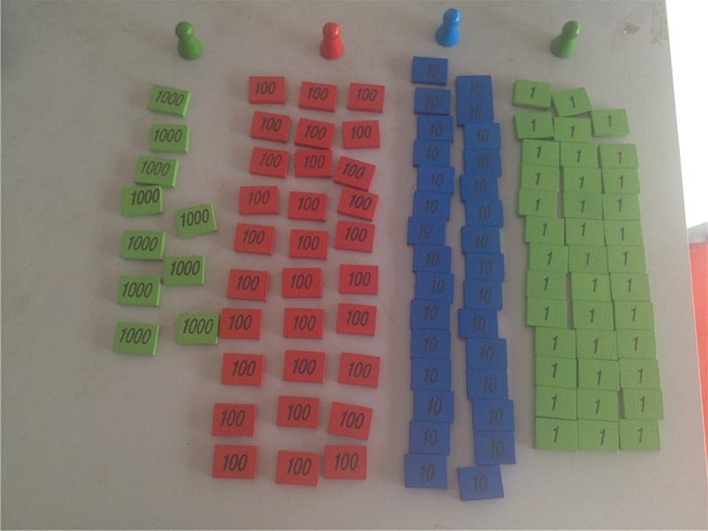 Uus puidust beebi mänguasja Montessori mini matemaatika mänguasja beebi hariv mänguasjad Baby kingitused