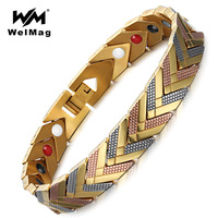WelMag Magnetische Armbanden Gezonde Armbanden voor Vrouwen 3-Tone Kleur Pijl Mode Dames Healing Sieraden Hologram Charm Armbanden