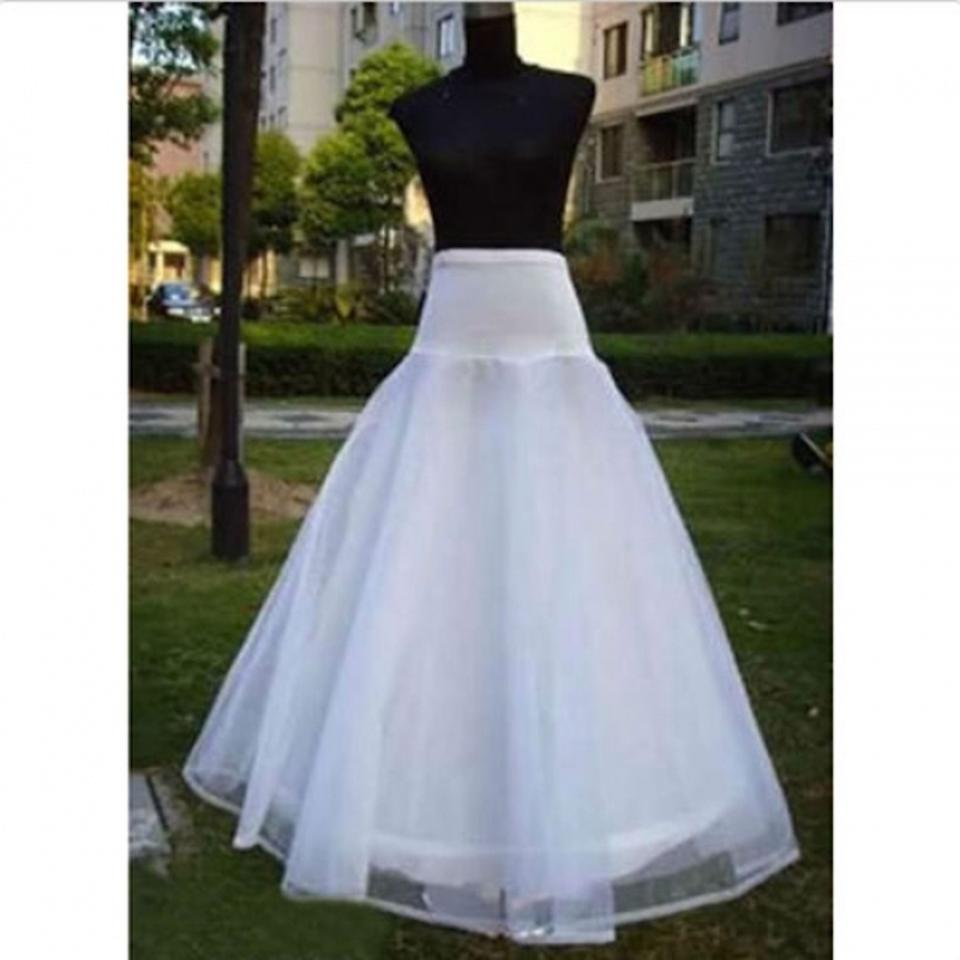 Plus Size In Stock High Quality A Line 1-HOOP Bridal Petticoats Wedding Gown Petticoat Slip Underskirt Wedding Accessories