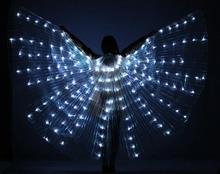 2017 Women LED Light Isis Wings Belly Dance Costumes 360 Egyptian Stage Performance New Arrival 2017 DJ LED Wings Without Sticks