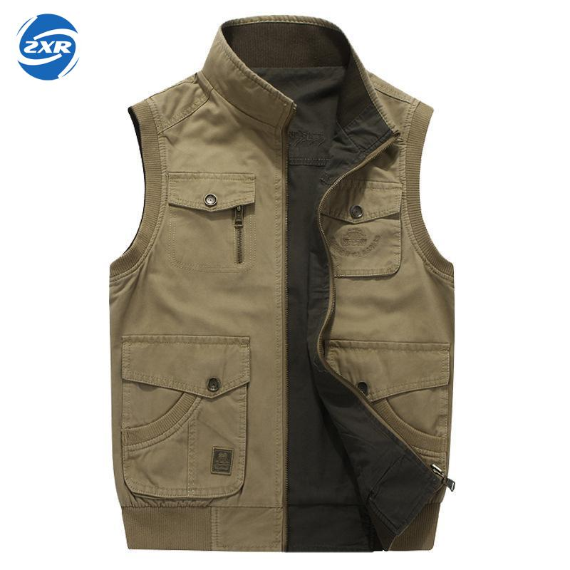 Zuoxiangru Hiking Tactical Vest Fishing Vest Men's M-6xl Multi Pockets Photography Jacket Camping Multi-pockets Hunting Vest multi pockets fishing hunting mesh vest mens outdoor leisure jacket
