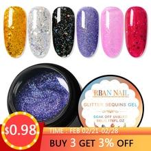RBAN NAIL 5ml Holographic Glitter Nail Gel Polish Shiny Laser Sequins 30 Colors Soak Off UV Art Lacquer Manicure