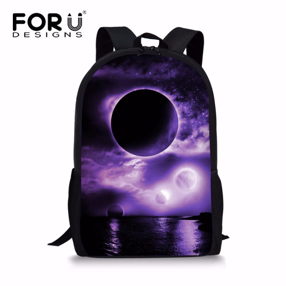 FORUDESIGNS Multicolor Teenager Girls Galaxy Star Schoolbag Junior Grade Kids School Bag Mochila Child Bookbag Double Zipper