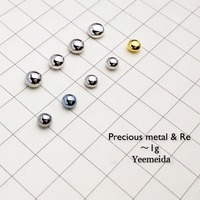 1g Of Each Solid Ruthenium Rhodium Palladium Osmium Iridium Platinum Gold Silver Rhenium Metal Beads
