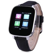 Zeblaze Kristall Pulsmesser Smart Bluetooth Uhr Wasserdichte Edelstahl Leder Band smartwatches für ISO Android