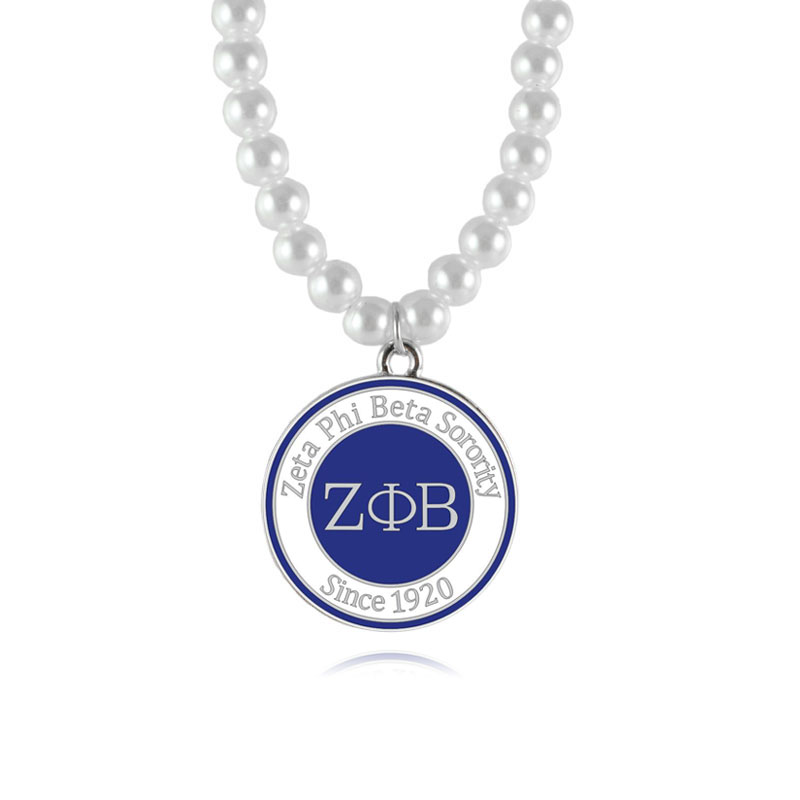 Aliexpress Com Buy Zeta Phi Beta Sorority Pearl Necklace