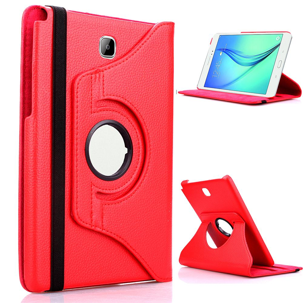 360 Rotating Leather Case For Samsung Galaxy Tab A 8.0 T350 SM-T350 T351 Smart Stand Flip Tablet Cover Case + Free Stylus Pen