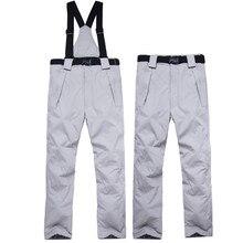 Мужские лыжные штаны, брендовые, для спорта на открытом воздухе, высокое качество, Холтер, женские, ветрозащитные, водонепроницаемые, 10000, теплые, зимние, для сноуборда, сноуборда