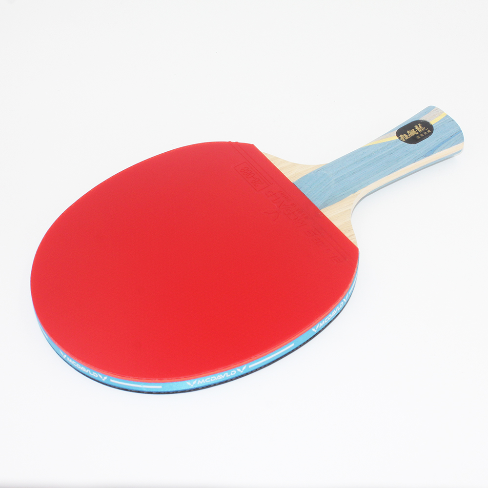 ZTON Table tennis racket Double pimples-in rubber Ping Pong Racket fast attack and loops or chop type player hybrid wood 9 8 carbon fiber table tennis racket glued with double face pimples in blue rubber ping pong racket tenis de mesa
