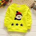 2016 spring and autumn boys and girls 100% cotton letter Hot T of baby boy long-sleeved children's brand T-shirt free shipping