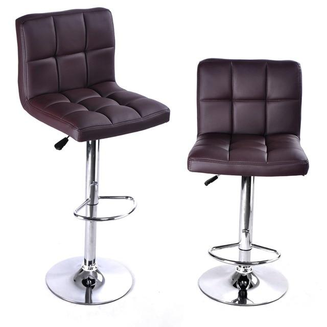 2 ШТ. Высокое качество Поворотный Офисная Мебель Компьютерный Стол Офисный Стул в ПУ Кожаный Стул барный стул Новый HW50129-2BN