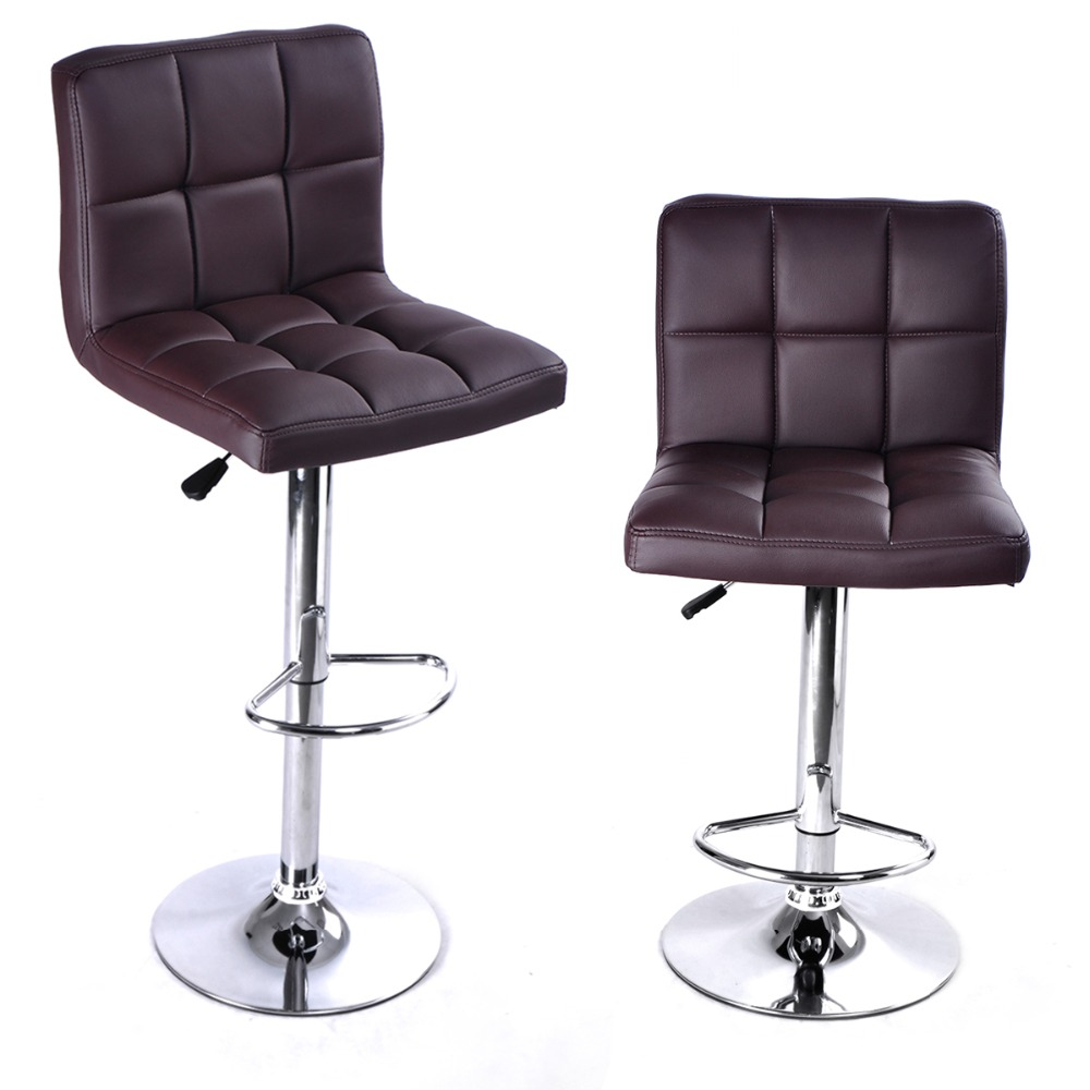 2 PC High quality Swivel Office Furniture Computer Desk Office Chair in PU Leather Chair bar stool New  HW50129-2BN 240311 high quality pu leather computer chair stereo thicker cushion household office chair steel handrails