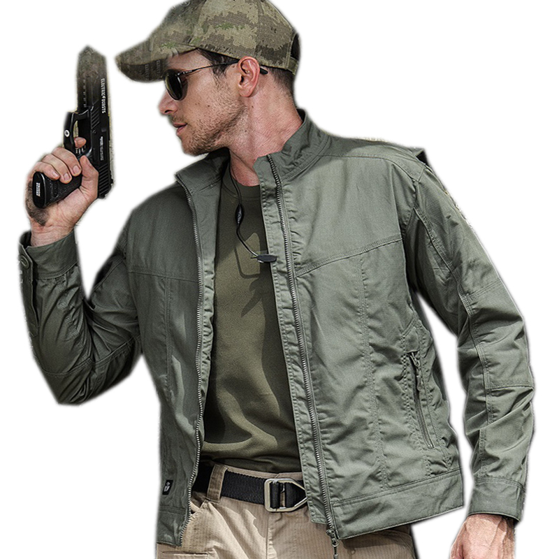 New 2018 Men tactical jacket Bodyguard Special Service Stand Collar Casual Jacket Special Forces Camouflage Jackets Men blouse