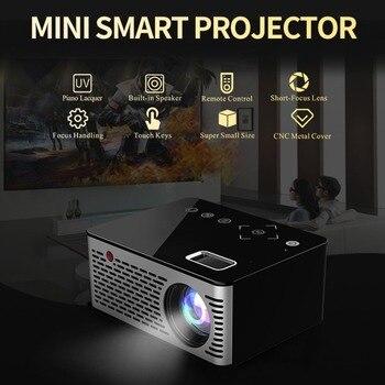 T200 البسيطة مايكرو LED سينما المحمولة فيديو HD USB HDMI العارض للمنزل مسرح قصيرة التركيز تصميم T200 نقل شاشة لنا