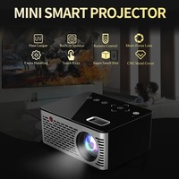 T200 Mini Micro LED Cinema Portable Video HD USB HDMI Projector for Home Theater Short Focus Design T200 Transmission Screen US