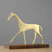 Abstract Gold Horse Home Decoration Statue Ornaments Art Horse Sculpture
