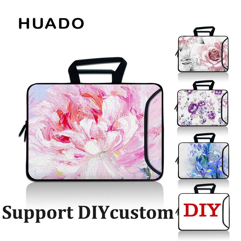 Flower Soft Laptop Carry bags girls tablets Bag women netbook Handbag 15.6 PC covers For 15 13 17 Macbook Pro Air/xiaomi/asus