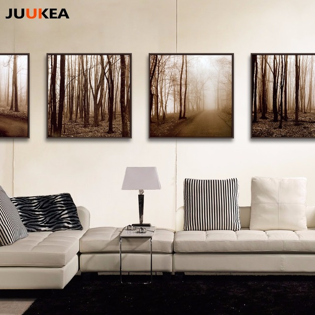 Schwarz Weiß Stil Wald Baum Landschaft Fotografie Kunst ...