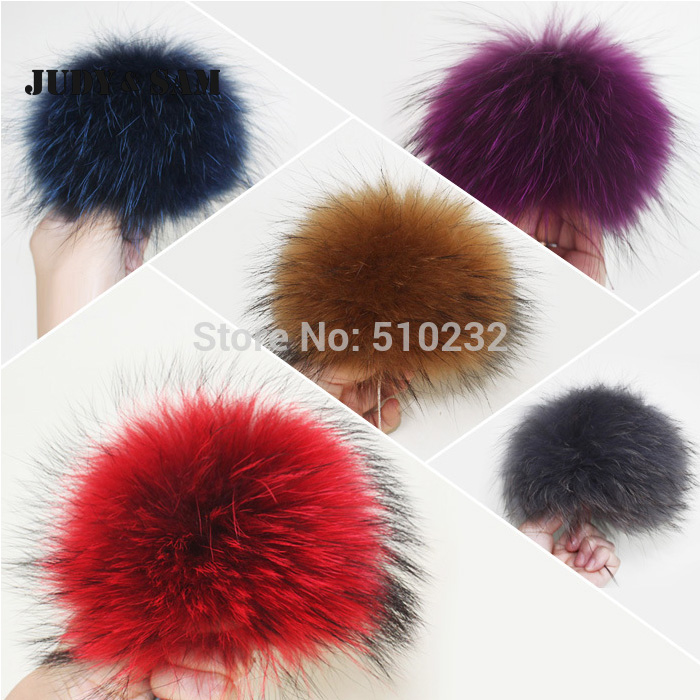 Unique Design Colorfu Not Mink Fur Genuine Raccoon Fur Pom Poms In Women's Baenies Soft Fluffy Balls Accessory Real Fur Ball corporate real estate management in tanzania