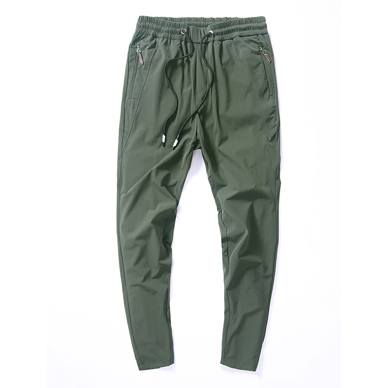 Thin Casual Pants Men Homme Summer Autumn 2019 New Elastic Quick Dry Trousers Male Gray Black Green Pantalones Hombre Size 28-36(China)