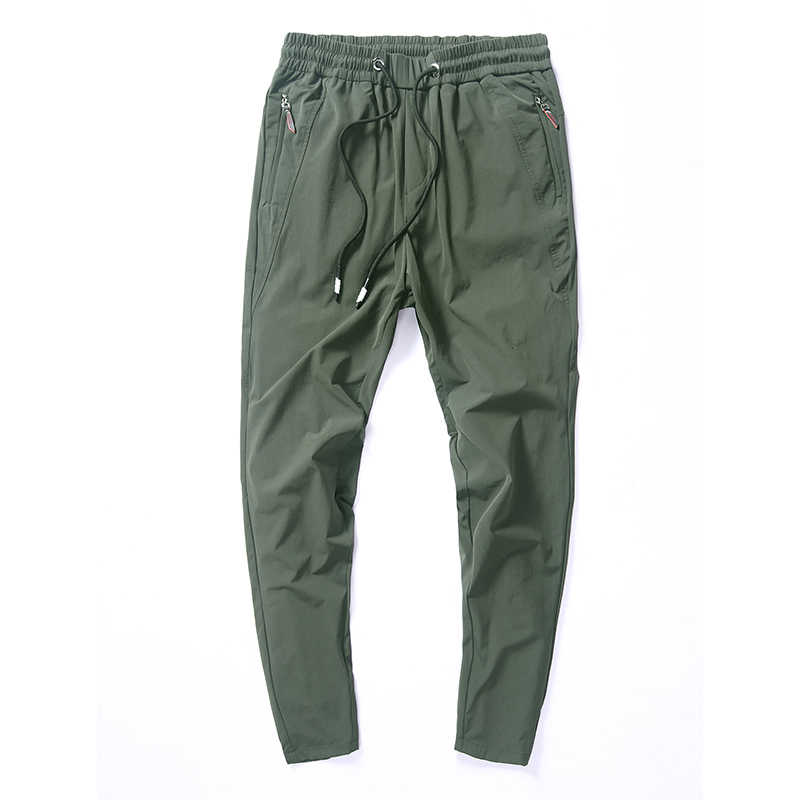 Thin Casual Pants Men Homme Summer Autumn 2019 New Elastic Quick Dry Trousers Male Gray Black Green Pantalones Hombre Size 28-36