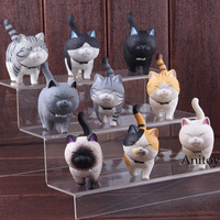 Cartoon Lovely Kawaii Cats Neko Action Figure PVC Cat Figure Decoration Animal Figures Toys Dolls 9pcs/set