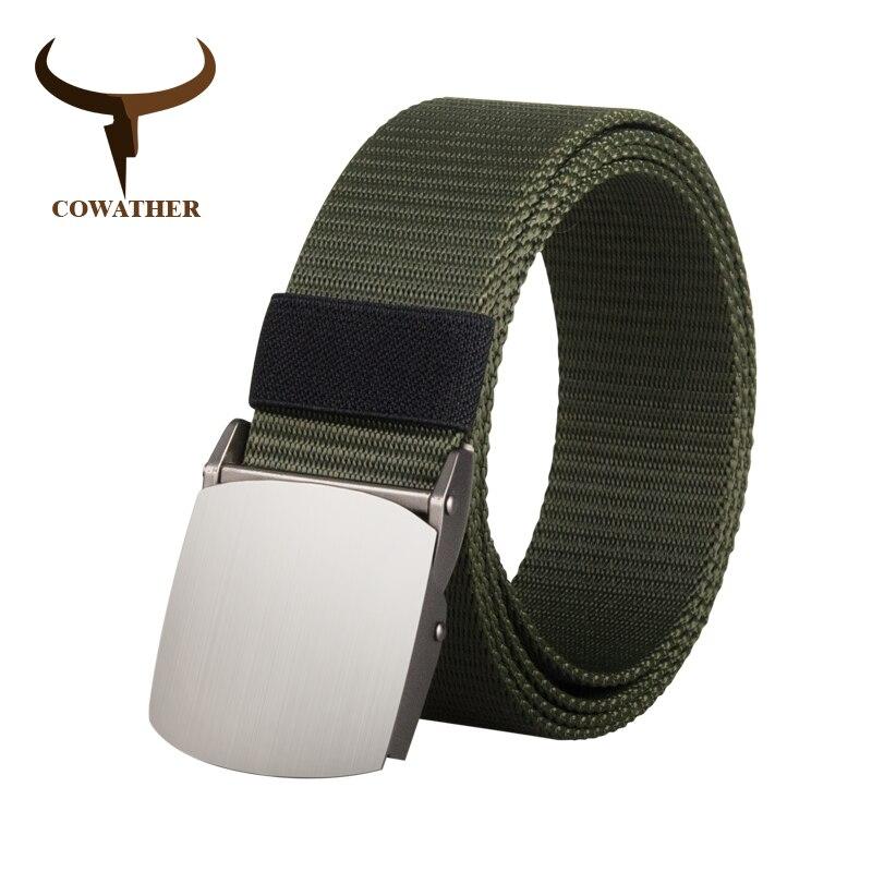 COWATHER nylon cinto tático ao ar livre militar dos homens cós cintos para homens cinta calça jeans masculinos casuais masculinos de luxo 110 130 150 170 cm