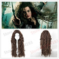 Top quanlity !Harry Potter Bellatrix Cosplay Wigs fashion Style Fluffy Wavy Curly Cos Wig/Hair free shipping