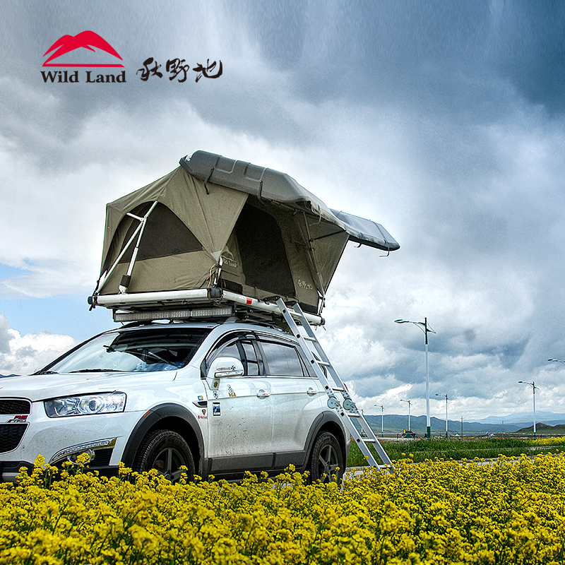 Wildland Roof top tent car hard shell Pathfinder II automatic quick open water proof canopy outdoor-in Tents from Sports u0026 Entertainment on Aliexpress.com ... : open sky roof top tent - afamca.org