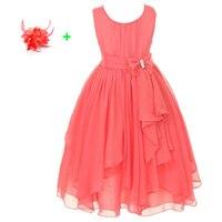 Fashion Chiffon Kids Summer Clothes Little Children Wedding Party Flower Girl Dress Kids Girls Beach Dresses
