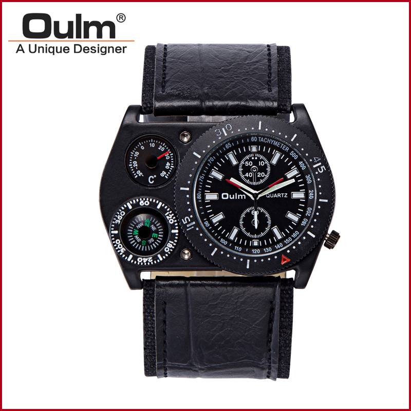 OULM Unique Design Military Army White Dial Mens Quartz Wrist Watch New Nice Xmas Gift Wholesale Price A111