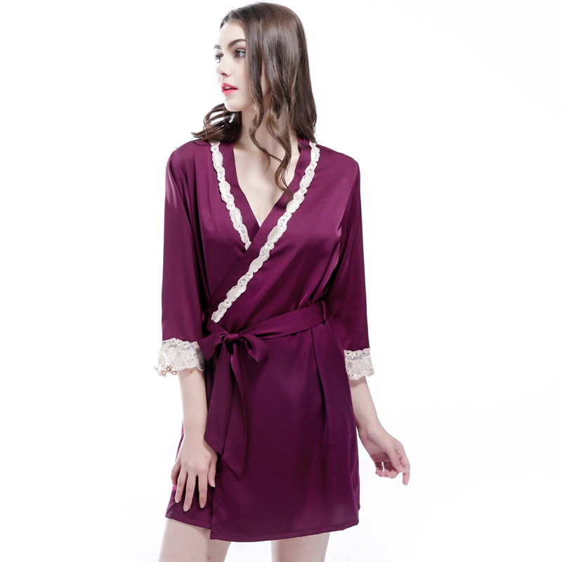 Free Shipping 2017 New Arrival Womens Nightwear Bathing Robes Fashion Sleepwear For Fema ...