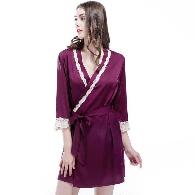 Free Shipping New Arrival Women s Nightwear Bathing Robes Fashion Sleepwear  For Female High Quality Real Silk M L XL XXL 36d1c60b9