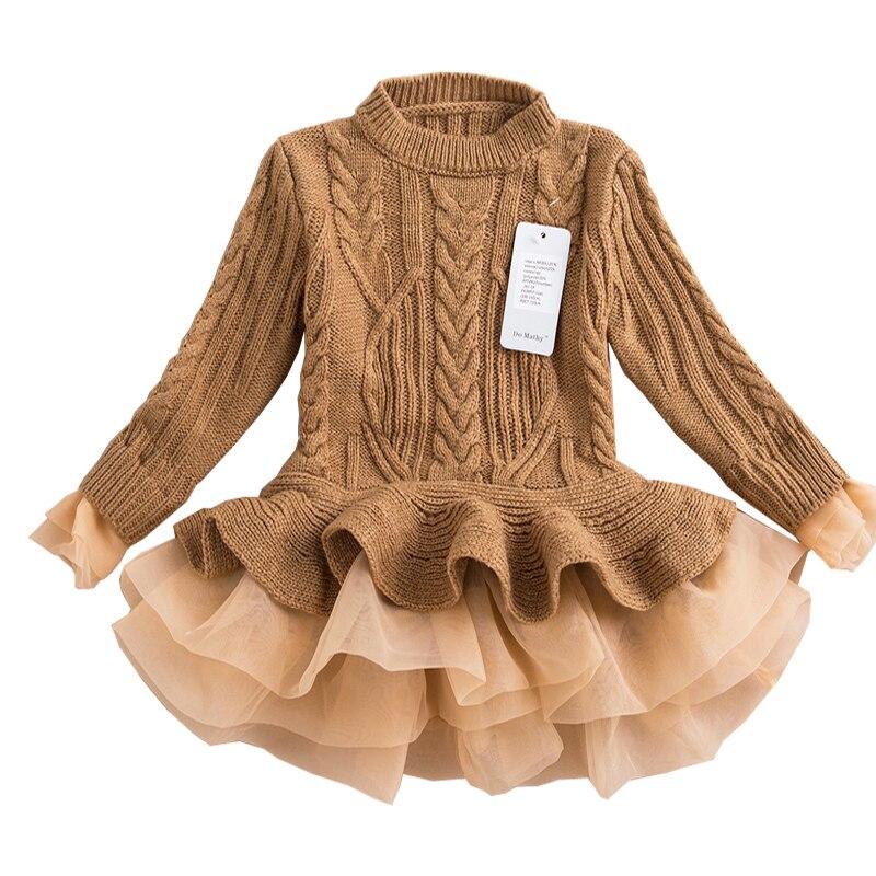 R & Z otoño 2017 gruesa caliente vestidos de niña princesa de punto - Ropa de ninos - foto 2