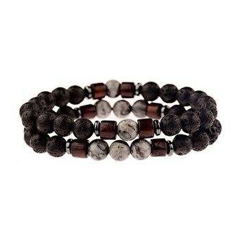 Bracelet distance pierre de lave