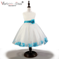 High End New Summer Flower Girl Dresses Petal Hem Pageant Dresses For Little Girls Fashion First