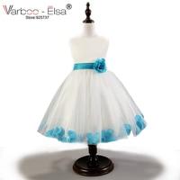 High-end new summer flower girl dresses petal hem pageant dresses for little girls fashion first communion dresses for girls