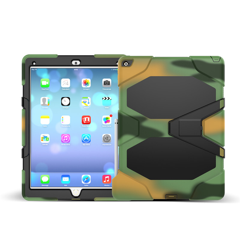 Pro 12.9 Hybrid Plastic+Silicon Heavy Duty Shockproof Dual Layer Rugged Military Armor Back Cover Case For Apple iPad Pro 12.9' 3 in 1 hybrid heavy duty shockproof dual layer military armor back cover case for apple ipad mini 4 case cover tablet case gifts