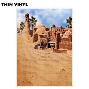 Image 2 - Allenjoy 砂漠背景建物歳素晴らしい市オアシスミラージュ背景フォトポートレート撮影の小道具フォトセッション