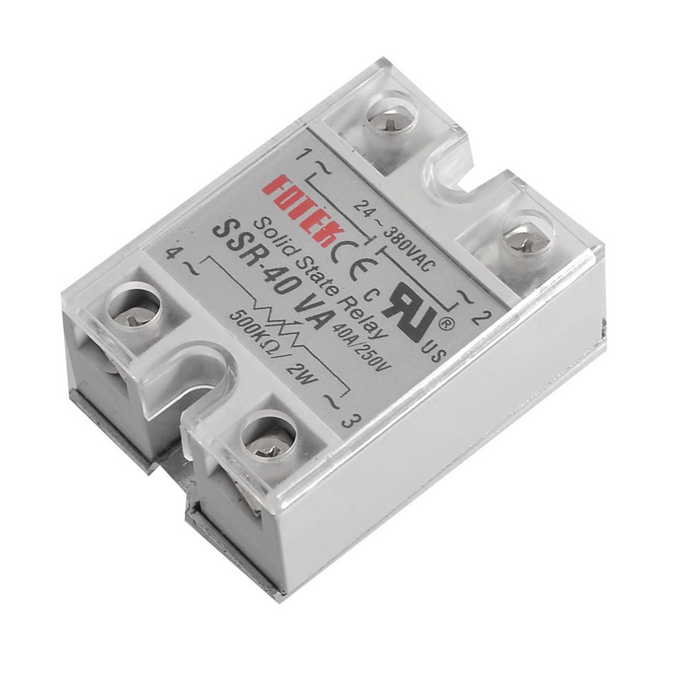 Solid State Relay SSR-40VA 40A 470-560k Ohm TO 24-380V AC SSR 40VA Relay Solid State Resistance Regulator Use Efficiency 75%