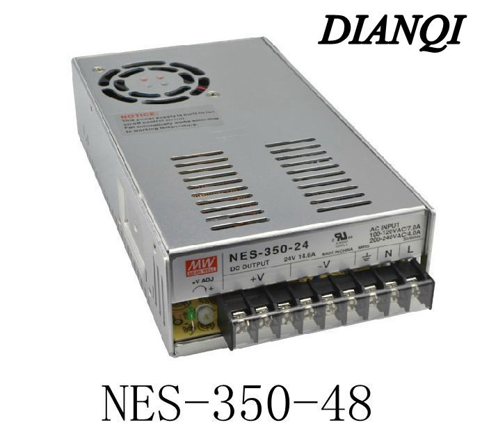 Original MEAN WELL power suply unit ac to dc power supply NES-350-48 350W 48V 7.3A MEANWELL meanwell 24v 50w ul certificated nes series switching power supply 85 264v ac to 24v dc