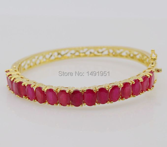 in carats gold red tennis ruby black bracelet