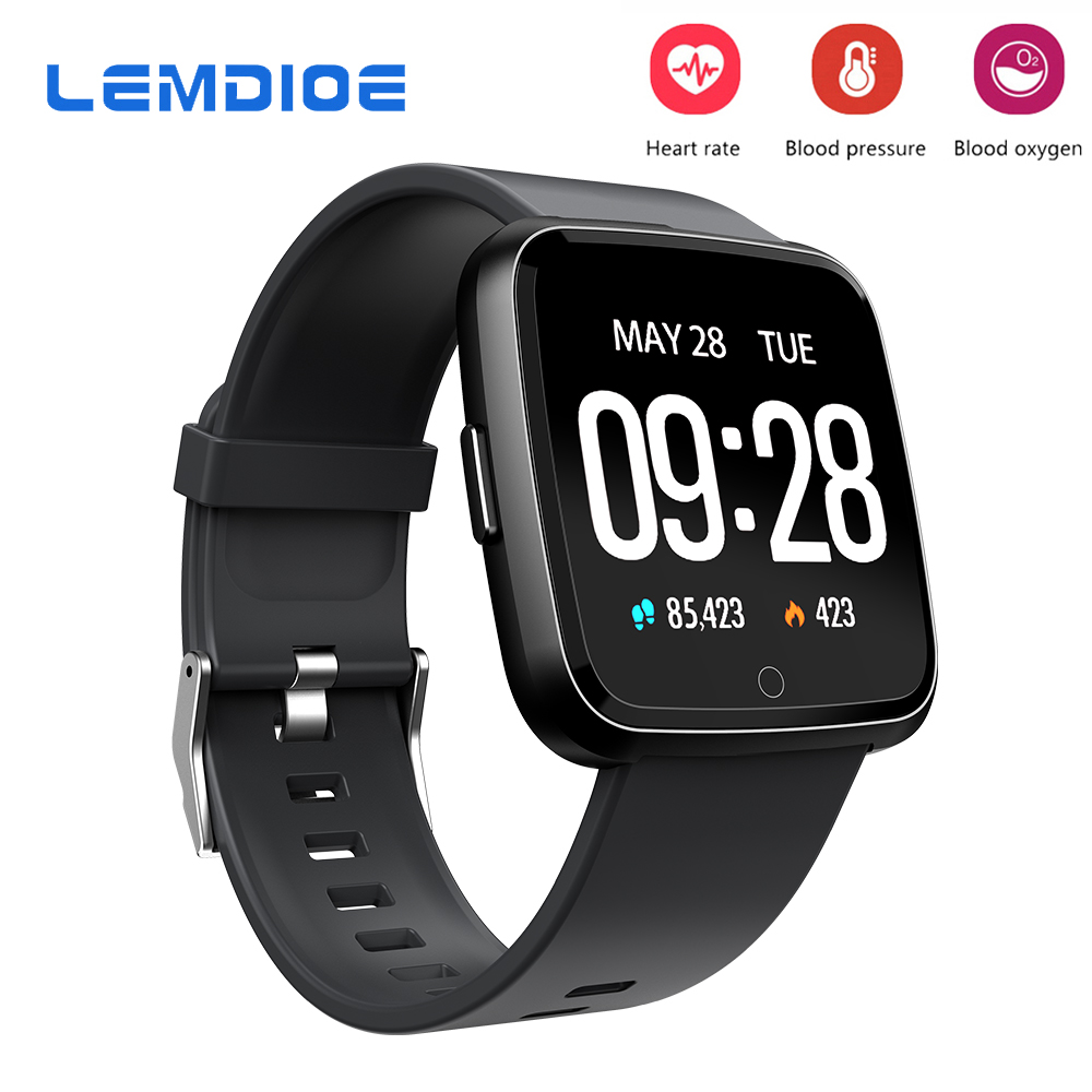 LEMDIOE Sport Smart Watch IP67 Waterproof Blood Pressure Oxygen Heart Rate Monitor Smartwatch Men Women For Android IOS Phone smartwatch x4 smart watch blood pressure men heart rate ip67 waterproof bluetooth wrist smartwatch for xiao mi android ios phone