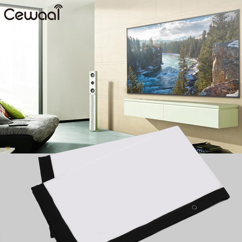 Foldable Projection Curtain Projector Screen 72inch 16:10 Diffuse ...