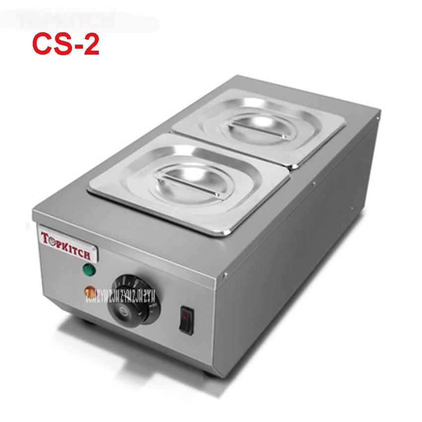 CS-2 Commercial 2 Pot Chocolate Melting Pot Electric Chocolate Melting Pot Domestic Chocolate Melting Pot 2 * 2L Capacity 220V цена и фото
