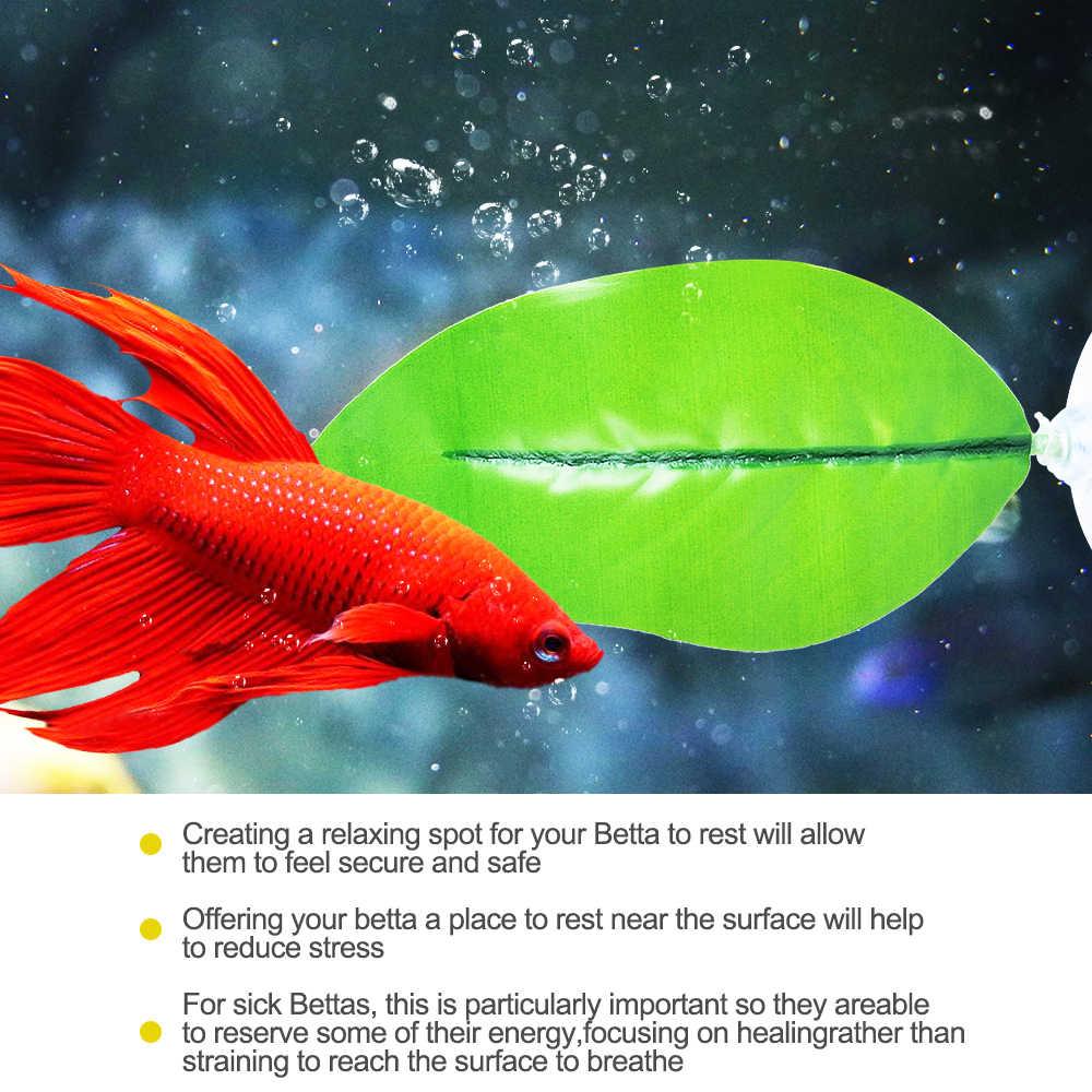 Коврик для рыбьего листа аквариум пейзаж пластиковые на присосках гамак для рыбок-Петушков украшение для аквариума Betta