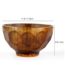 New 2pcs Natural Jujube Wooden bowl chinese soup rice Noodles bowls
