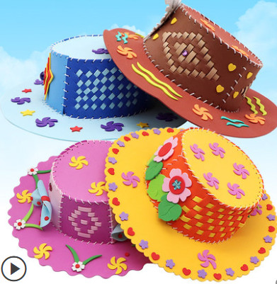 Funny Colorful DIY EVA Cartoon Hats Toys For Children Kid's Party