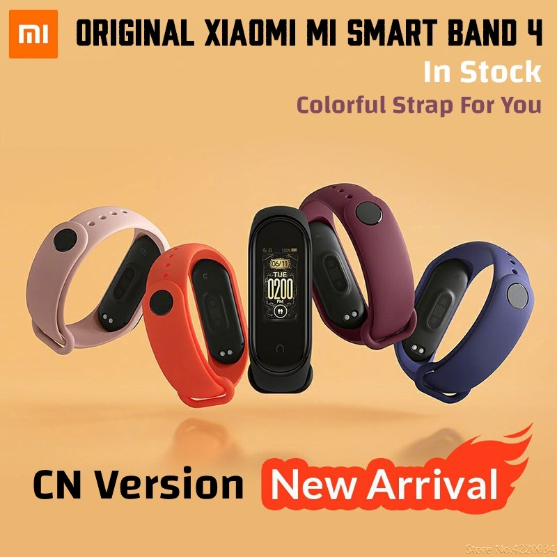 Xiaomi Mi Band 4 Original Smart Wristband Xiaomi Band 4 Waterproof Bracelet Miband 4 Fitness Color